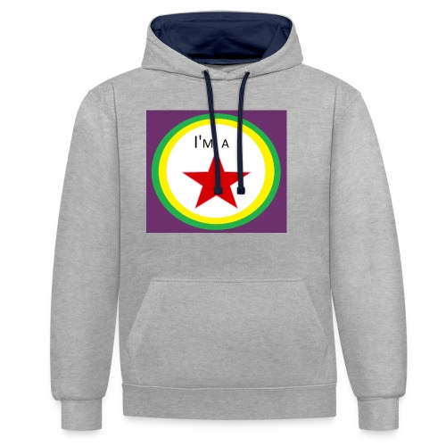 I'm a STAR! - Contrast Colour Hoodie