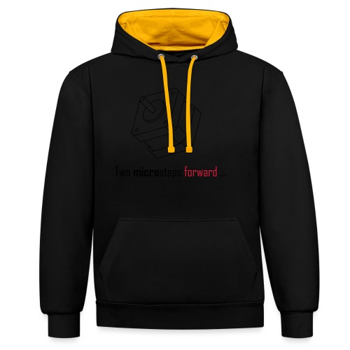 Two microsteps forward.... - Contrast Colour Hoodie