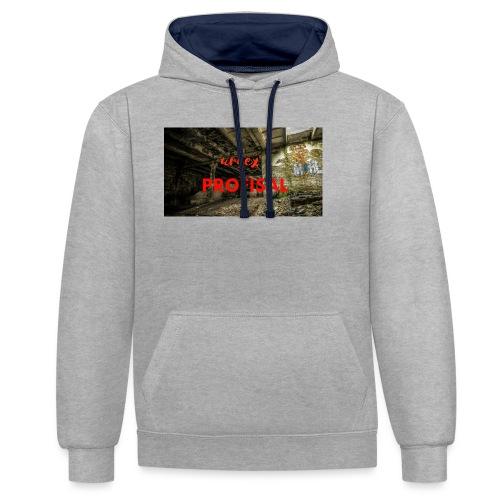 profisal - Bluza z kapturem z kontrastowymi elementami