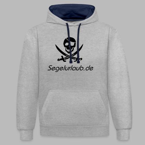 Piraten Flaggen Shirt Segelurlaub - Kontrast-Hoodie