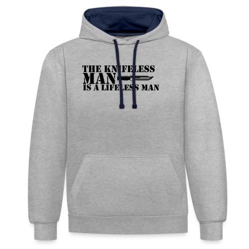 Knifeless Man Is A Lifeless Man - Kontrastluvtröja