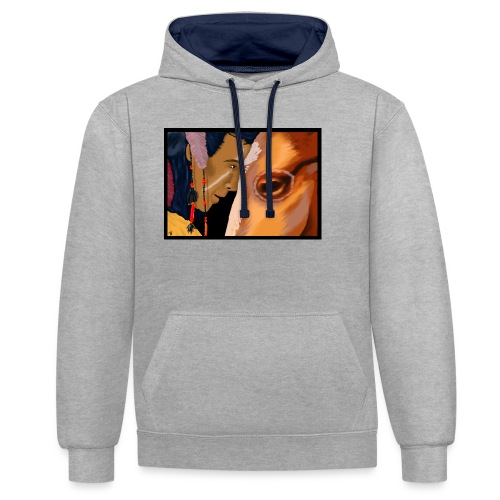 Man and Horse - Contrast hoodie