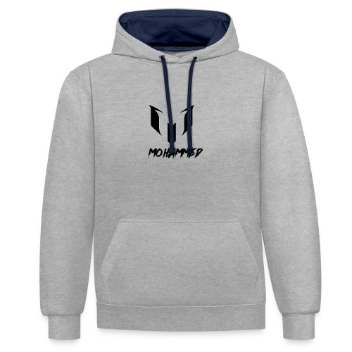 mohammed yt - Contrast Colour Hoodie