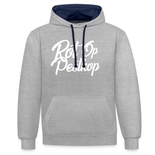 Rot Op Pestkop - Curly White - Contrast hoodie