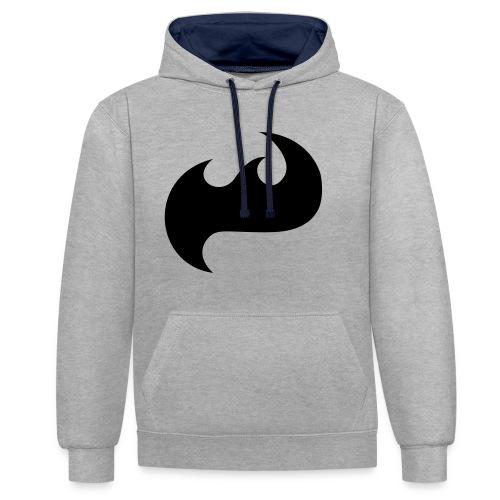Highfish Logo - Kontrast-Hoodie