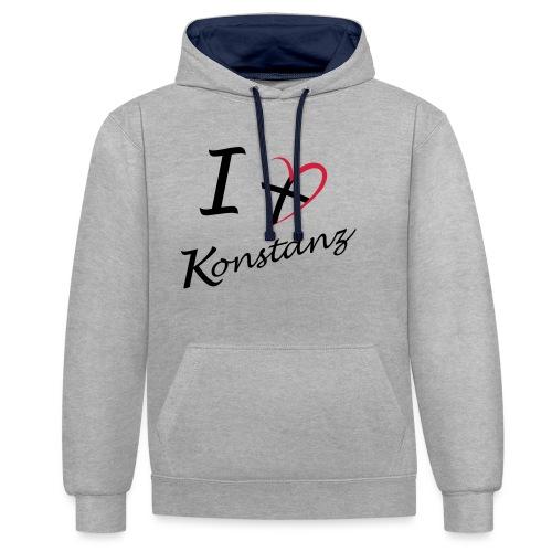 Konstanz Liebe - Kontrast-Hoodie