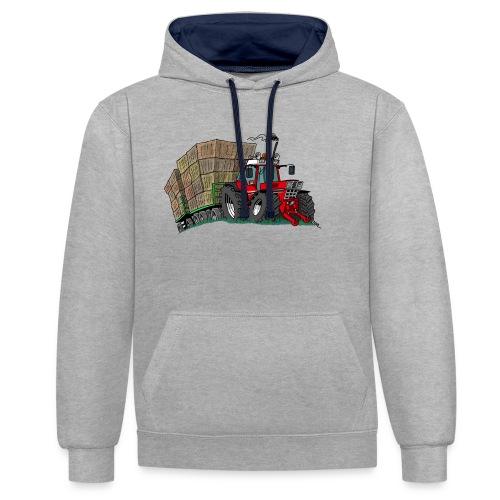 rode_trekker_hooi - Contrast hoodie