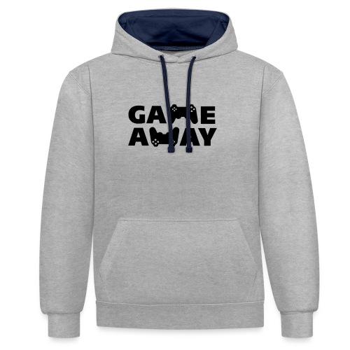 game away - Contrast hoodie