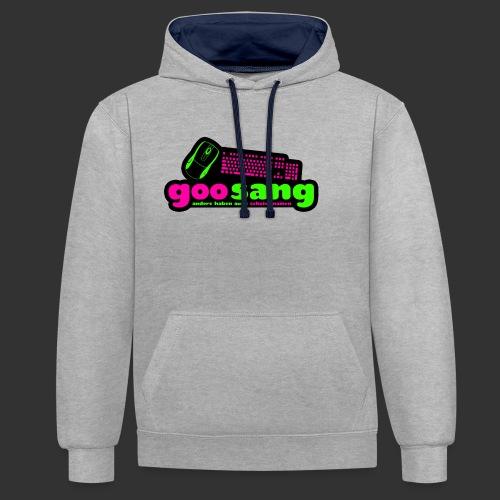 goosang logo - Kontrast-Hoodie