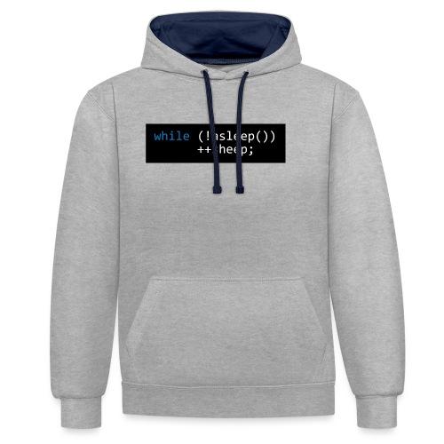 while (!asleep()) ++sheep; - Contrast hoodie