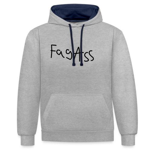 Fag Ass Logo #1 - Kontrast-hættetrøje