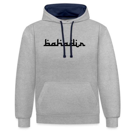 bahadir logo1 png - Kontrast-Hoodie
