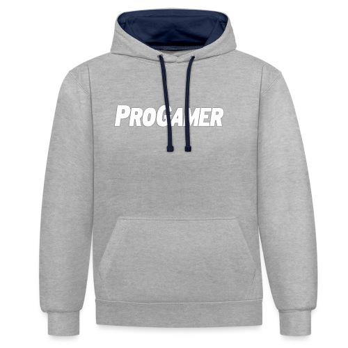 progamers merchandise - Kontrast-hættetrøje