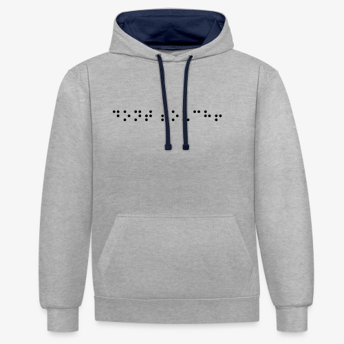 don't touch! - Kontrast-Hoodie