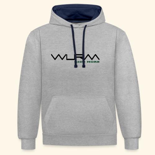 WLRM Schriftzug black png - Kontrast-Hoodie