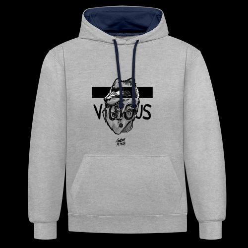 VICIOUS - Kontrast-hættetrøje