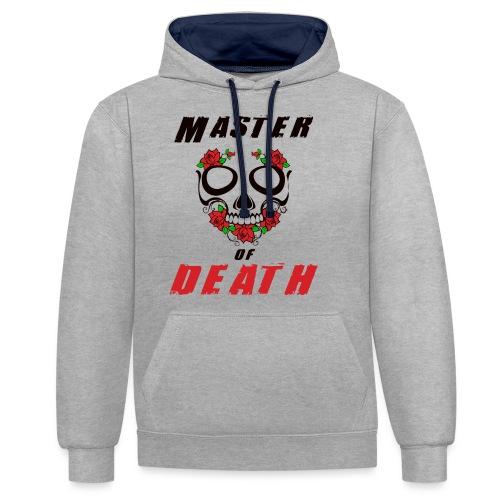 Master of death - black - Bluza z kapturem z kontrastowymi elementami