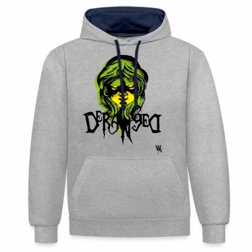 DerangeD - Tattoo Metal Horror Vampire - Kontrast-hættetrøje
