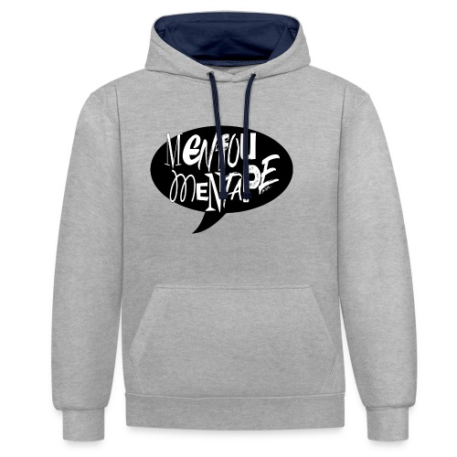 La bulle MENFOUMENTAPE by Alice Kara - Sweat-shirt contraste