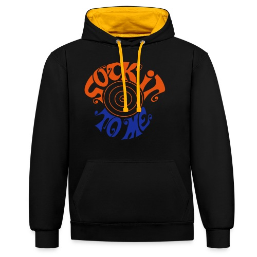sock it to me - Contrast Colour Hoodie