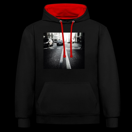 IMG 0806 - Contrast Colour Hoodie