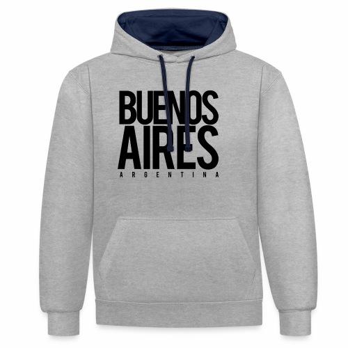 Buenos Aires Argentina - Sudadera con capucha en contraste