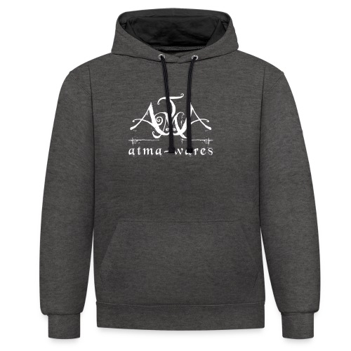 atma wares logo white - Contrast hoodie
