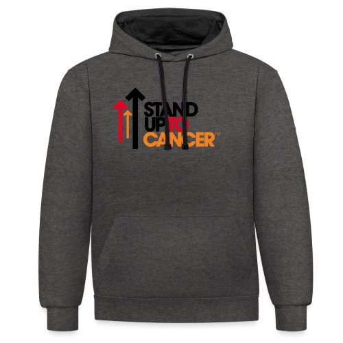 stand up to cancer logo - Contrast Colour Hoodie