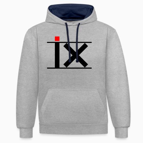 inventor logo - Contrast Colour Hoodie