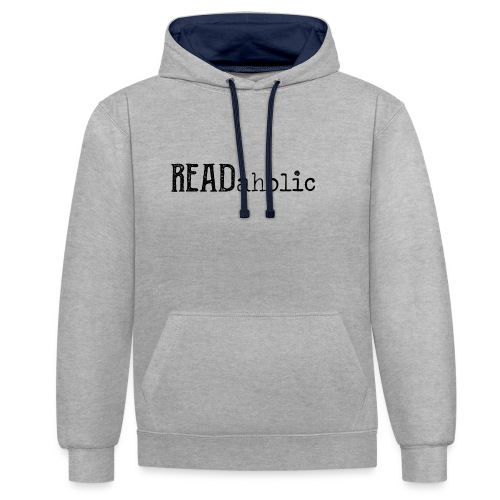 0312 Readaholic Books Book Reading Reader - Contrast Colour Hoodie