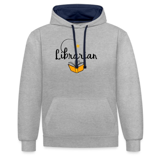 0326 Librarian & Librarian - Contrast Colour Hoodie