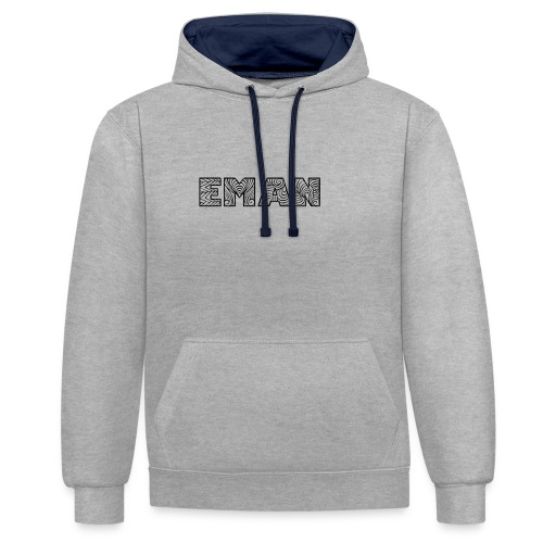 eman name - Contrast Colour Hoodie