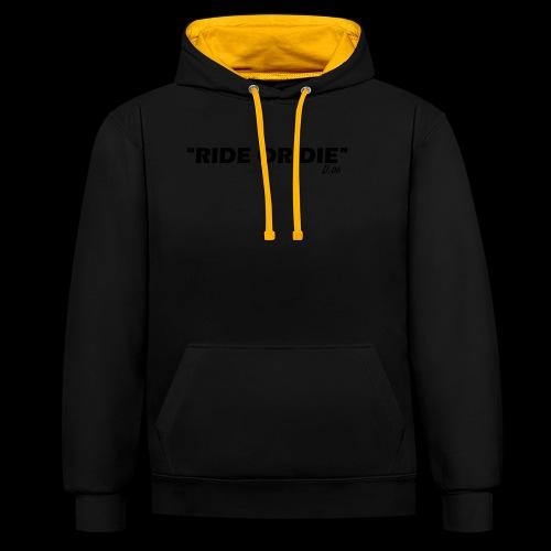 Ride or die (noir) - Sweat-shirt contraste
