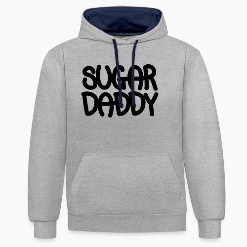 Sugar Daddy Zwart - Contrast hoodie