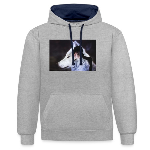 Wolfy - Contrast Colour Hoodie
