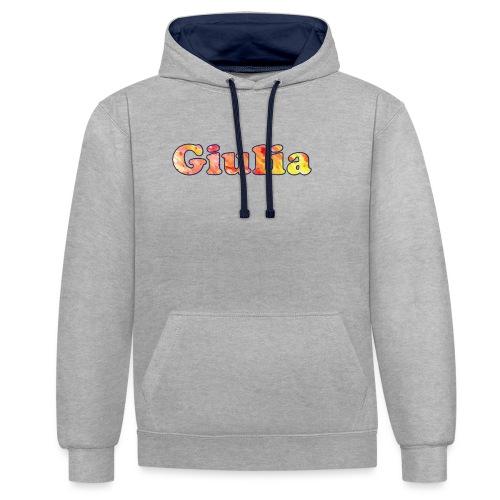 giulia - Felpa con cappuccio bicromatica