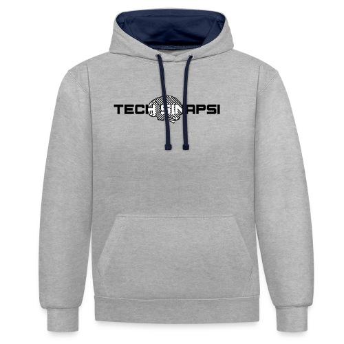 Maglietta TECH SINAPSI - Felpa con cappuccio bicromatica