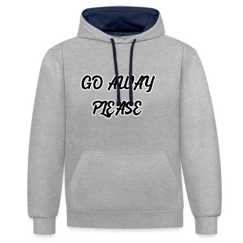 Go Away Please - Kontrast-Hoodie