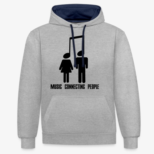 Music Connecting People - Kontrast-Hoodie
