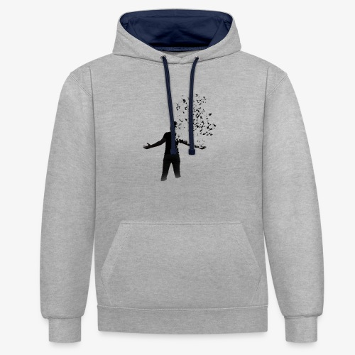 Coming apart. - Contrast Colour Hoodie