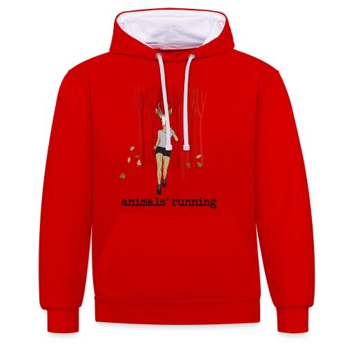 Antilope running - Sweat-shirt contraste