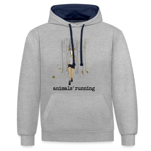 Antilope running - Sweat-shirt contraste