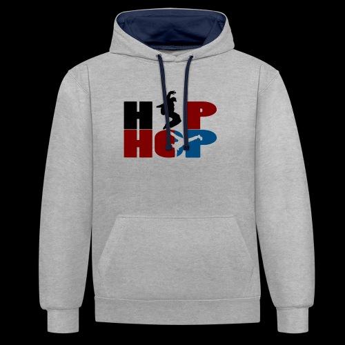 hip hop - Sweat-shirt contraste