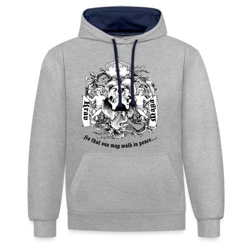 Krav Maga Skull - Contrast Colour Hoodie
