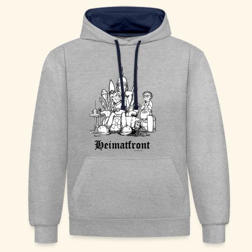 Heimatfront Mama Heimat Waffen Sohn Muttersöhnchen - Kontrast-Hoodie