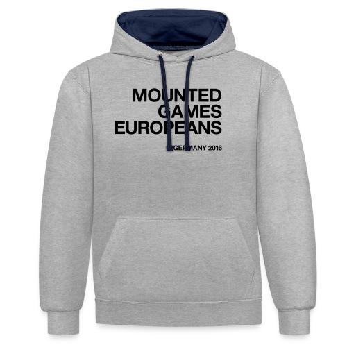 Mounted Games Europeans Hoodie - Kontrast-Hoodie