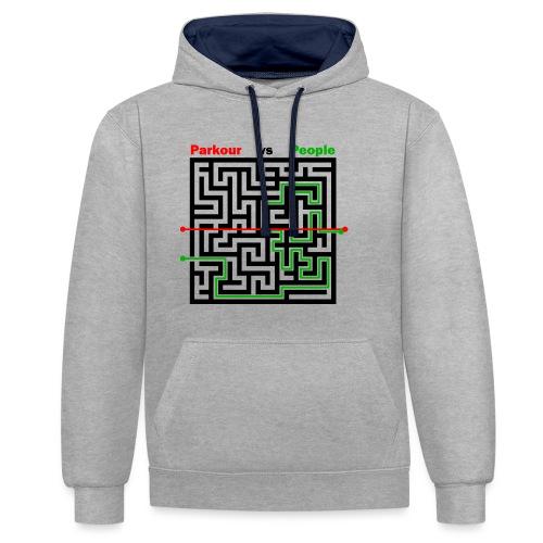 Parkour Maze parkour vs people - Kontrast-hættetrøje