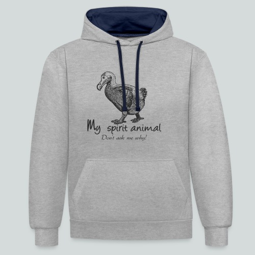 Le dodo est mon animal totem. - Sweat-shirt contraste