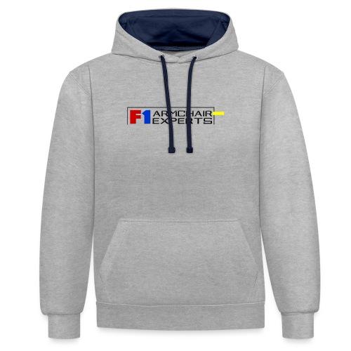 F1 Armchair Experts Logo BK - Contrast Colour Hoodie