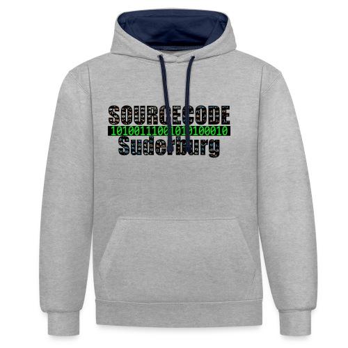 Sourcecode Suderburg - Kontrast-Hoodie